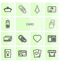 14 card icons vector