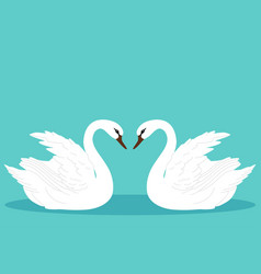 a pair of swans swan vector image