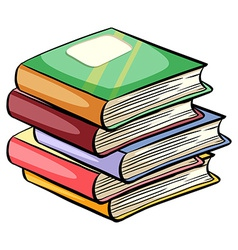 A pile of books vector