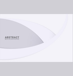 Abstract white background with smooth lines paper vector