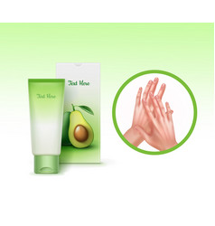 advertising hands cream vector image