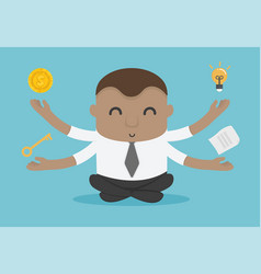 African american businessman office worker vector