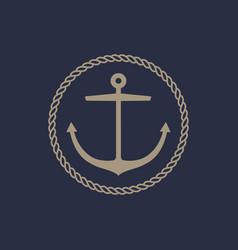 Anchor emblem design vector