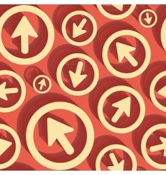 Arrows seamless pattern 3d vector