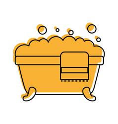 bathtub towel foam soap clean hygiene interior vector image