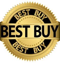 Best buy golden label vector image