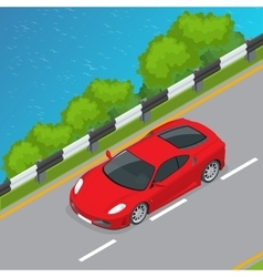 Car isometric Flat 3d vector image