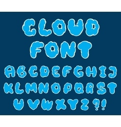 Cartoon cloud font vector