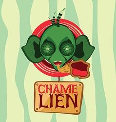 Chamelion alien head vector