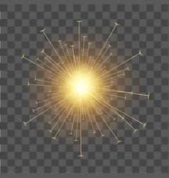 Christmas decoration gold lights sparkler effect vector