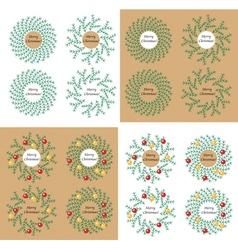 Christmas wreath with toys vector