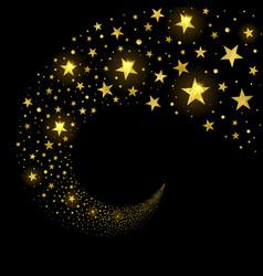 Circular stream sparkling stars vector