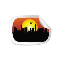 city color vector image