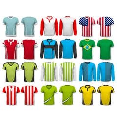 Collection of various shirts Design template The vector image