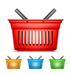 Color Shopping Baskets vector image