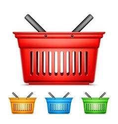 Color shopping baskets vector
