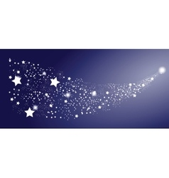 Comet star on white background vector