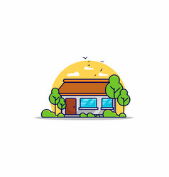 comfortable simple house flat vector image