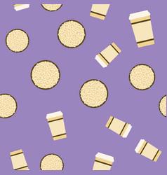 cookie amp coffee pattern seamless flat food vector image