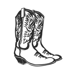 Cowboy boots graphic isolated vector