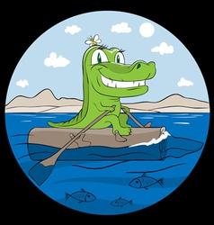 crocodile the traveller vector image