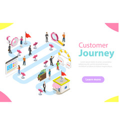 Customer journey flat isometric vector