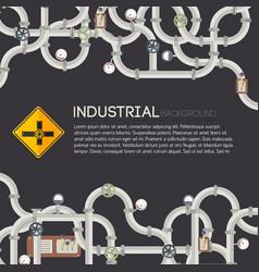 dark industrial background vector image vector image