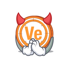 devil veritaseum coin mascot cartoon vector image