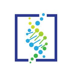 dna health logo designs icons vector image