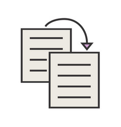Duplicate content line filled icon vector