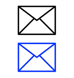 envelope glyph icon vector image