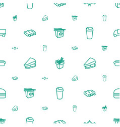Fast icons pattern seamless white background vector