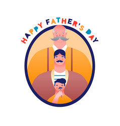 fathers day card funny dad mustache family vector image