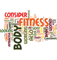Fitness babes text background word cloud concept vector