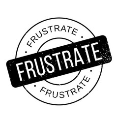 Frustrate rubber stamp vector