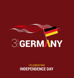 Germany indpendence day design vector