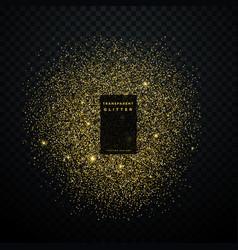 Gold glitter explosion shiny sparkles confetti vector