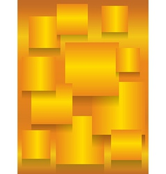 Gold square boards background vector image