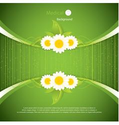 green eco frame vector image