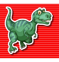 Green T-Rex running alone vector