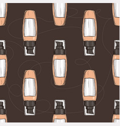 hand drawn bootles of foundation vector image