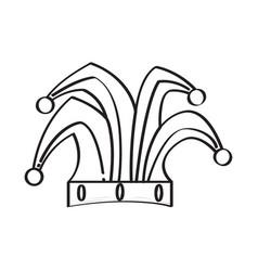 harlequin hat icon vector image