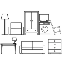 Household furniture vector image