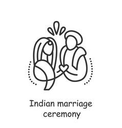 Indian marriage ceremony editable vector