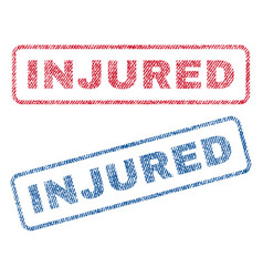 Injured textile stamps vector