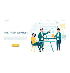 Investment solutions concept and people in meeting vector