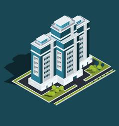 Isometric 3d of modern urban vector