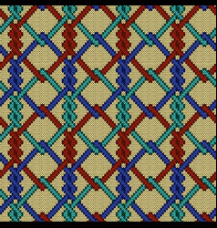 Knitted seamless ornate pattern vector