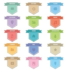 Label Icons Set vector image