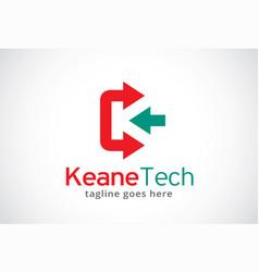 Letter k logo template design vector